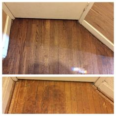 Floor Refinishing Red Oak Floor Refinished Before And After Sanded Out Water Stains