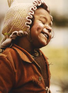 Photographer Collin Key captured this beautiful laugh in September 1978 in Choklamsar, Jammu and Kashmir, IN. Love the genuine Joy!