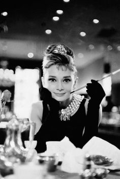 Audrey Hepburn - Breakfast at Tiffany's. I Love this movie!