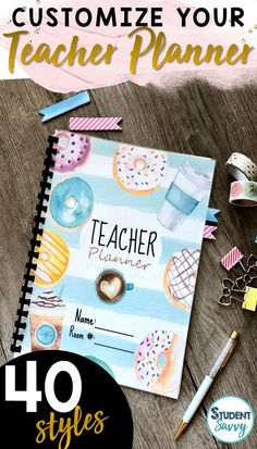 Design the perfect teacher binders and planners with 40 fabulous covers! Just click and start typing! Both Editable PowerPoint files and ready-to-go PDF files included! 6th Grade Activities, Science Activities, Teacher Planner, College Planner, College Tips, Teacher Binder Covers, Weekly Planner Printable, Printable Calendars, Your Teacher