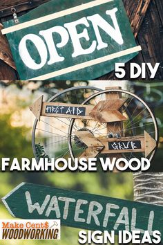 5 DIY Farmhouse Wood Sign Ideas Take a look at these DIY wooden craft farm wood sign ideas for the Wood Projects That Sell, Woodworking Projects That Sell, Diy Wood Projects, Woodworking Tips, Wooden Crafts, Wooden Diy, Reclaimed Barn Wood, Rustic Farmhouse Decor, Wood Letters