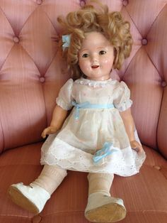 Vintage Shirley Temple Doll by Ideal, 1930's.