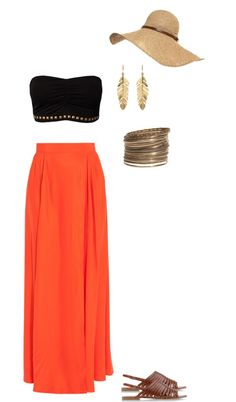 """Summer maxi skirt"" by danicaaaaaf on Polyvore"