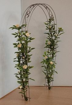 Christa's Site : how to make a rose arch for the garden. The Netherlands
