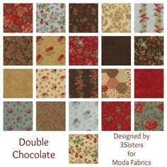 Double Chocolate Designed by 3Sisters for Moda Fabrics