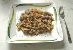 Gombás gersli Fried Rice, Stuffed Mushrooms, Health Fitness, Beef, Ethnic Recipes, Fitt, Stuff Mushrooms, Meat, Nasi Goreng