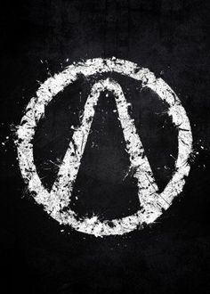 borderlands white black logo splat splatter symbol emblem pandora video game gaming border lands