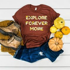 509d04ccb Explore forevermore in this super soft tri-blend Bella Canvas graphic tee  by County Road