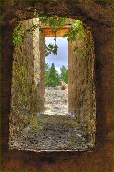 Stone Window, Italica, Andalucia, Spain