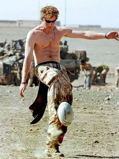 I love me some Prince Harry!!!   ---Harry was usually seen in uniform during ten – week tour duty in Afghanistan. In some free time, he went shirtless to play rugby