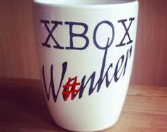 Hand Decorated 'Fancy a Bum Wk' Mug by Holyflaps on Etsy