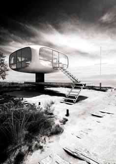 Lifeguard-Station on the Island of Ruegen by Ulrich Muether