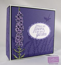 By: Kendra Wietstock for Crafter's Companion. #HSNCrafts  Stamps: Sheena Douglass - The Country Life; Brambles; Vintage Floral Sentimentals - Phrases Dies: Sheena Douglass - Loosestrife Die; Brambles Die Die'sire Essentials: Oval; Scallop Ovals Spectrum Noir Markers - LV1, LV2, LV3 (Purples); DG2, DG4 (greens)  @CraftersCompUS