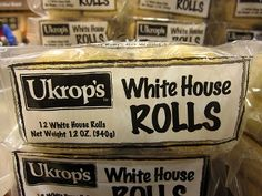 White House rolls, but from Ukrops, not Martins. RIP Ukrops! **these used to run my life. but with chicken salad on them**