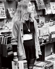 grunge-out in record store