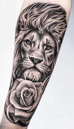 Lion Forearm Tattoos, Lion Head Tattoos, Forarm Tattoos, Leo Tattoos, Forearm Tattoo Design, Animal Tattoos, Tattoos For Guys, Lion Arm Tattoo, Mens Lion Tattoo