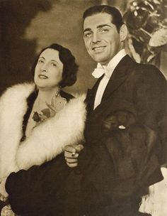 One of the first issued wedding pictures of Clark Gable and Maria 'Ria' Langham.
