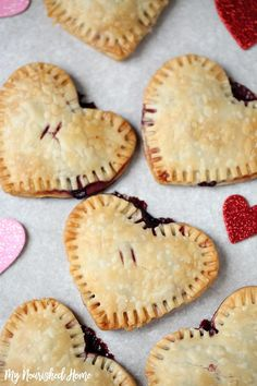 Homemade Berry Pastry - so cute for Valentine's Day! My kids loved making this with me. /mynourishedhome/
