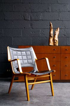 Peter Hvidt & Orla Mølgaard-Nielsen; Bentwood and Leather 'AX' Chair for Fritz Hansen, 1950s.