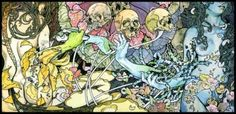 'Pig Destroyer - Phantom Limb' Art by John Baizley of Baroness.  This is a work in which the line work grabs me and shouts, 'this is perfection!!' The thick brushstrokes are exactly the type of design i wish to move towards.