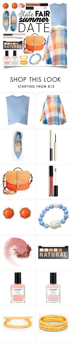 """""""Summer Date: The State Fair"""" by ittie-kittie ❤ liked on Polyvore featuring Miss Selfridge, Michael Kors, Dooney & Bourke, Anastasia Beverly Hills, De Buman, Devoted, NARS Cosmetics, NYX, Nailberry and Gorjana"""