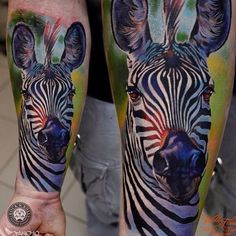 Zebra Tattoo on Forearm Tattoo Idea