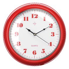 Premier Housewares Red Wall Clock – 2200558 – Add a touch of warmth and luxury to your home with the red collection of homeware and cookware from Premier Housewares, a leading supplier and distributor to the retail trade of kitchenware, tabletop & bathroom accessories, soft furnishings, decorative accessories, lighting and occasional furniture. Purchase from a host of online stores and independent local retailers and please visit http://www.premierhousewares.co.uk for trade enquiries.