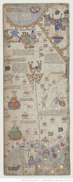 Abraham Cresques ?, Atlas de cartes marines, dit [Atlas catalan]. c.1375