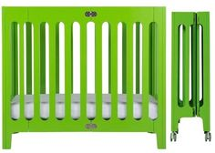 Bloom Alma Mini Crib - Small crib that stores easily! #green