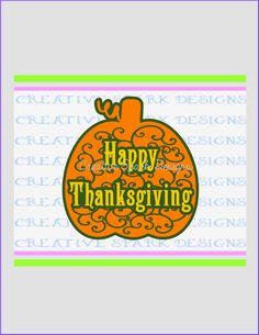 Happy Thanksgiving Ornate Pumpkin Layered SVG Holiday Image for Die Cutting Machines or Printing by CreativeSparkDesigns on Etsy