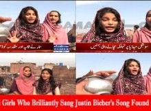 Justin Beiber song sung by Pakistani beggar girls