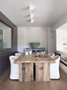 Sala de Jantar em um misto de Moderno & Rústico