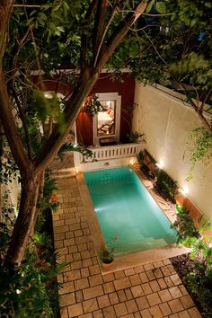 Merida house rental - Courtyard view from master suite