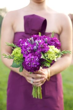 Purple and green bouquet // photo by http://www.liveviewstudios.com