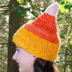 Candy Corn Hat   AllFreeKnitting.com