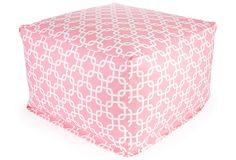 Soft Pink ottoman on One Kings Lane priced right!