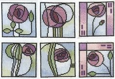 Mackintosh Flowers to Cross Stitch