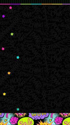 Pop Art Wallpaper, Iphone 6 Wallpaper, Rainbow Wallpaper, Heart Wallpaper, Locked Wallpaper, Cellphone Wallpaper, Colorful Wallpaper, Black Wallpaper, Colorful Backgrounds