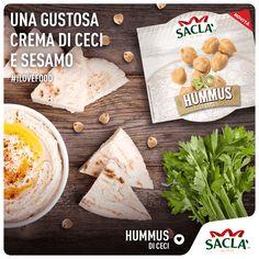 Nasce l'Hummus Saclà. Una gustosa e morbida crema biologica di ceci e semi di sesamo, ideale per preparare deliziosi aperitivi, per accompagnare verdure e arricchire i tuoi piatti con creatività e gusto. Condividi la tua ricetta con Saclà!