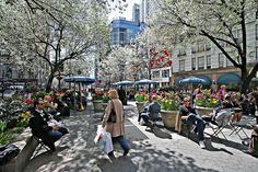 Herald and Greeley Square parks on Sixth Avenue at Street — I remember driving by this park on a super rainy day when we were caught without an umbrella 34 Street, Street View, Herald Square, Urban Park, Ny Ny, Urban Life, Street Photo, Beautiful World, New York City