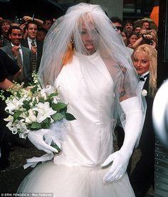 Dennis Rodman Wedding Dress The Bride Wore White Dressed In A Gown