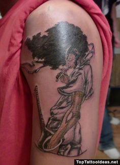 Afro samurai tattoo by alanrushlow