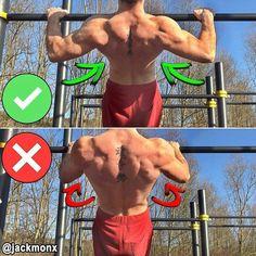 Сorrect exercises: pull-up