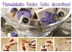 Manualidades faciles sellos decorativos!