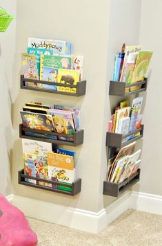 How We Organized Our Small Playroom Want a few ideas for how to organize a small playroom? This post gives tips on toy bins to use, how to divide play spaces, and using DIY methods to tidy up. - How We Organized Our Small Playroom Small Toddler Rooms, Small Kids Playrooms, Small Playroom, Toddler Playroom, Playroom Design, Playroom Decor, Toddler Toys, Boys Playroom Ideas, Children Playroom