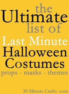 The Ultimate List of Last Minute Costumes - 30 Minute Crafts