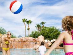 Phoenix is no slouch when it comes to upscale hotels with fabulous water parks, but it's hard to top the sprawling Arizona Grand's seven-acre Oasis Park, which features three thrilling water slides, a 10,000-square-foot wave pool and lazy Zuni River. Oh, and that's in addition to the resort's six swimming locales spread across the resort grounds.