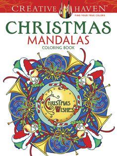 dover coloring book creative haven christmas mandalas - Google Search