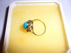 Ring 585 Gold mit Türkis