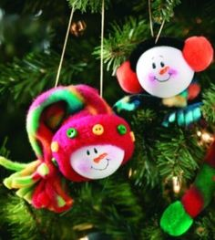 Ping Pong Snowman Craft | Ornament Crafts | Christmas Crafts — Country Woman Magazine